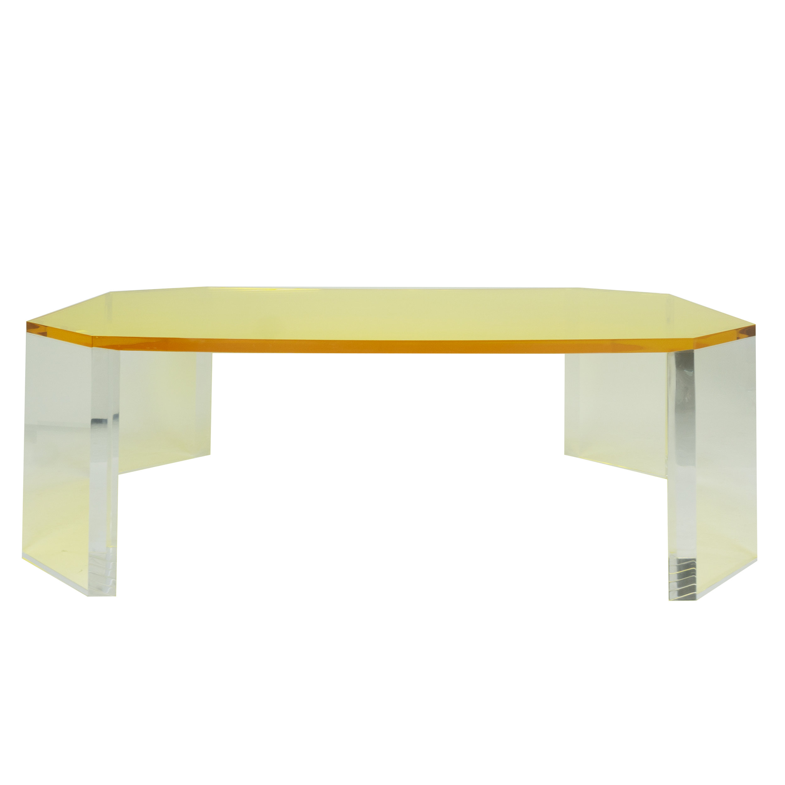 - Yellow Octagon Coffee Table - The Tailored Home.