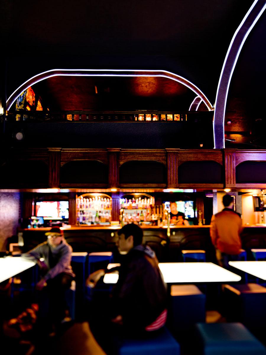 Bar with view to mezzanine