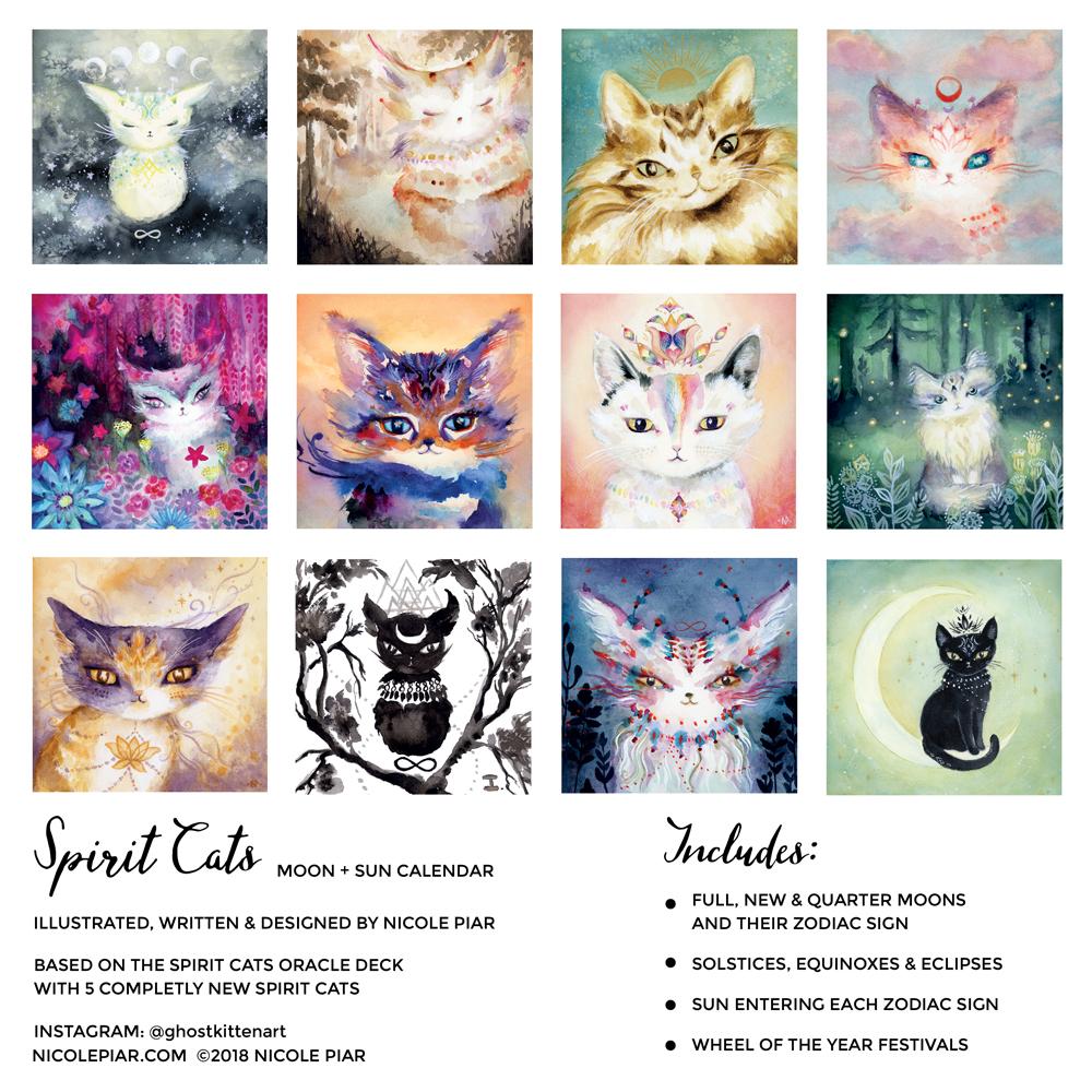 Spirit Cats 2019 Calendar — Nicole Piar