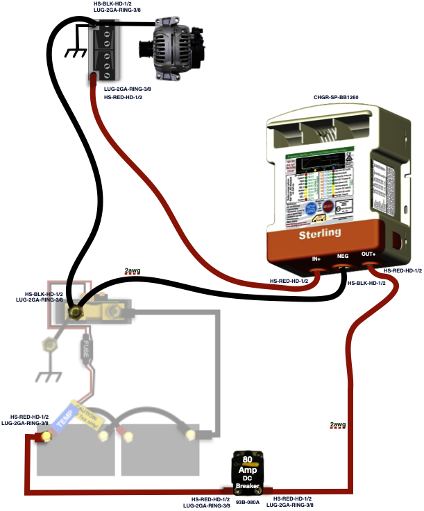 DC/DC Alternator Charger Kit (Lithium or AGM) | Agm Alternator Wiring Diagram |  | AM Solar