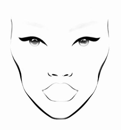 Makeup Paper Face Chart Lewisburg