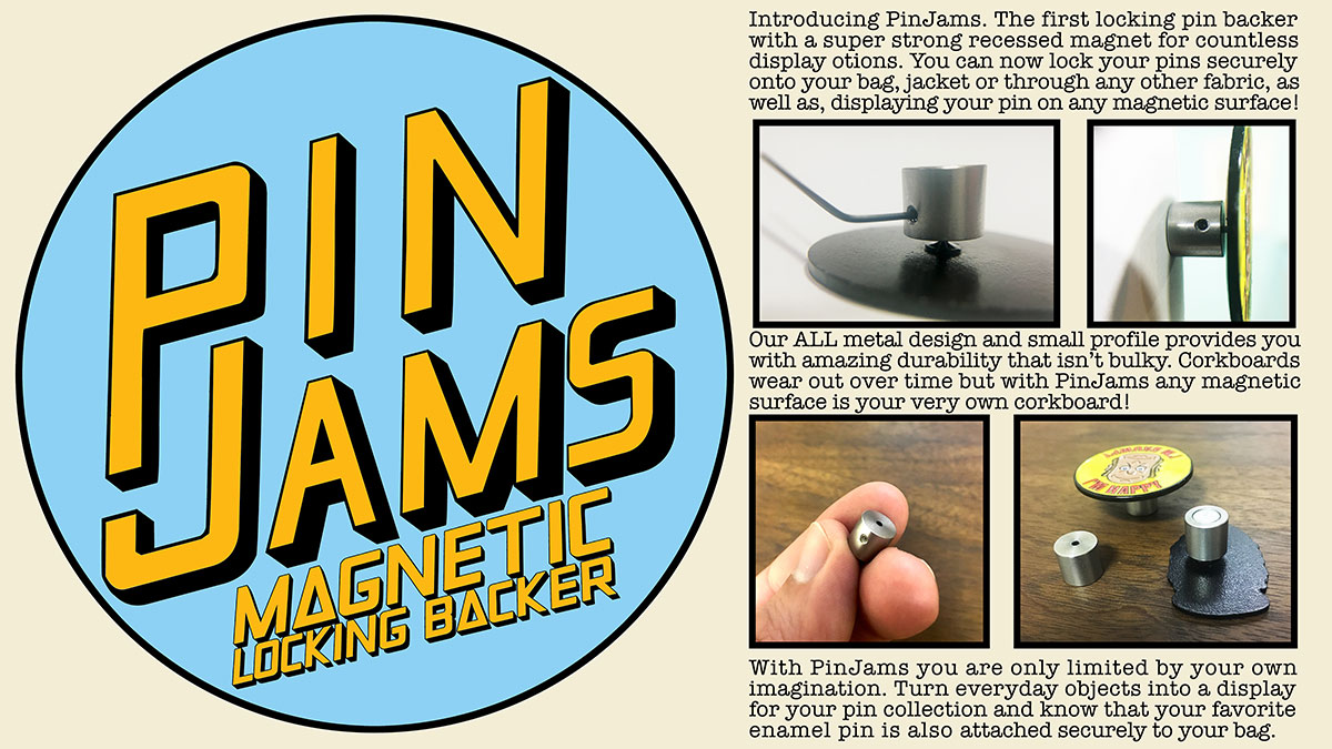PinJams Magnetic Locking Backs (5 Pack) — Space Cadet Collective