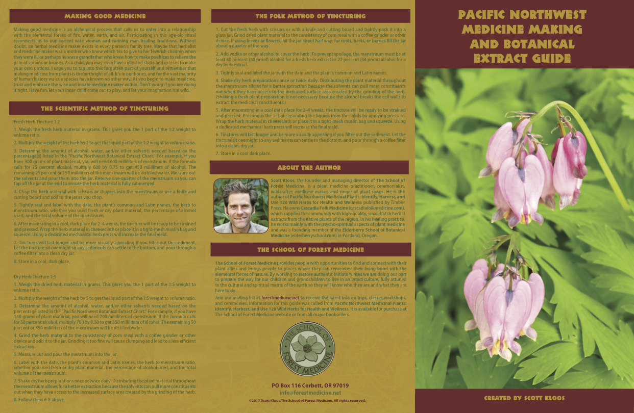 Pacific Northwest Medicine Making and Botanical Extract Guide | The School  of Forest Medicine