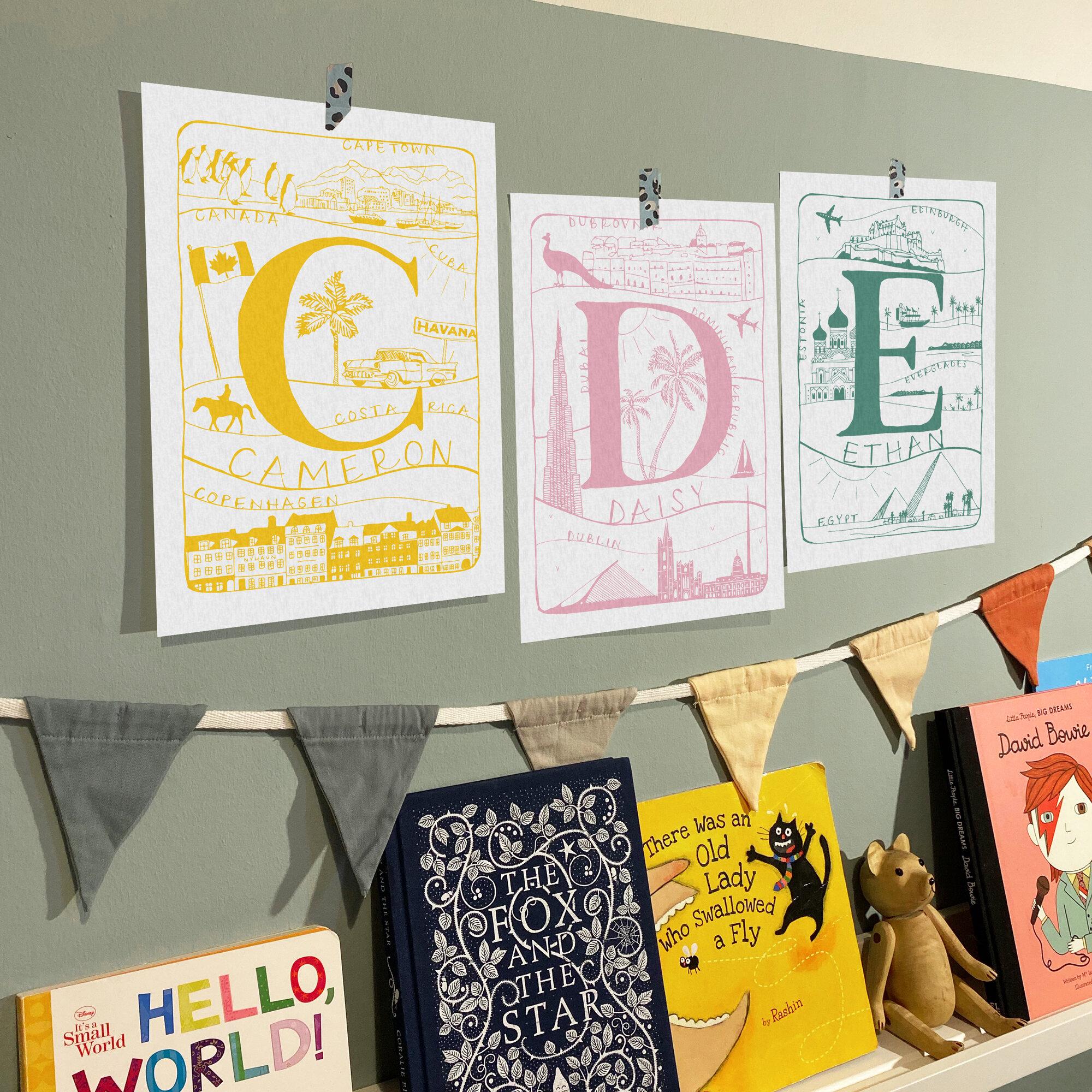 Alphabet Explorer Nursery Print
