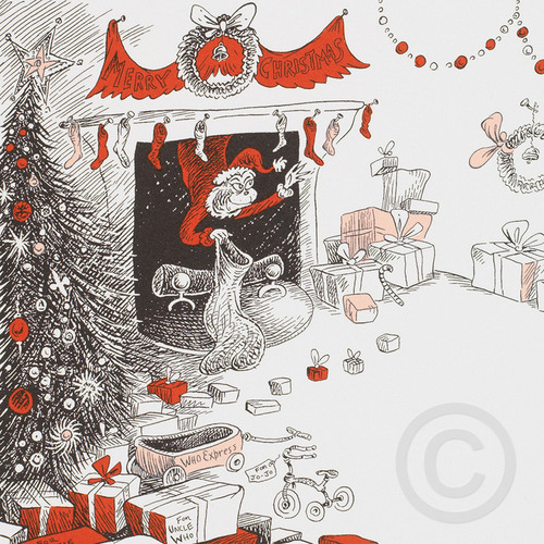 How The Grinch Stole Christmas Book Illustrations.If Santa Could Do It Then So Could The Grinch Chuck Jones Gallery Catalog