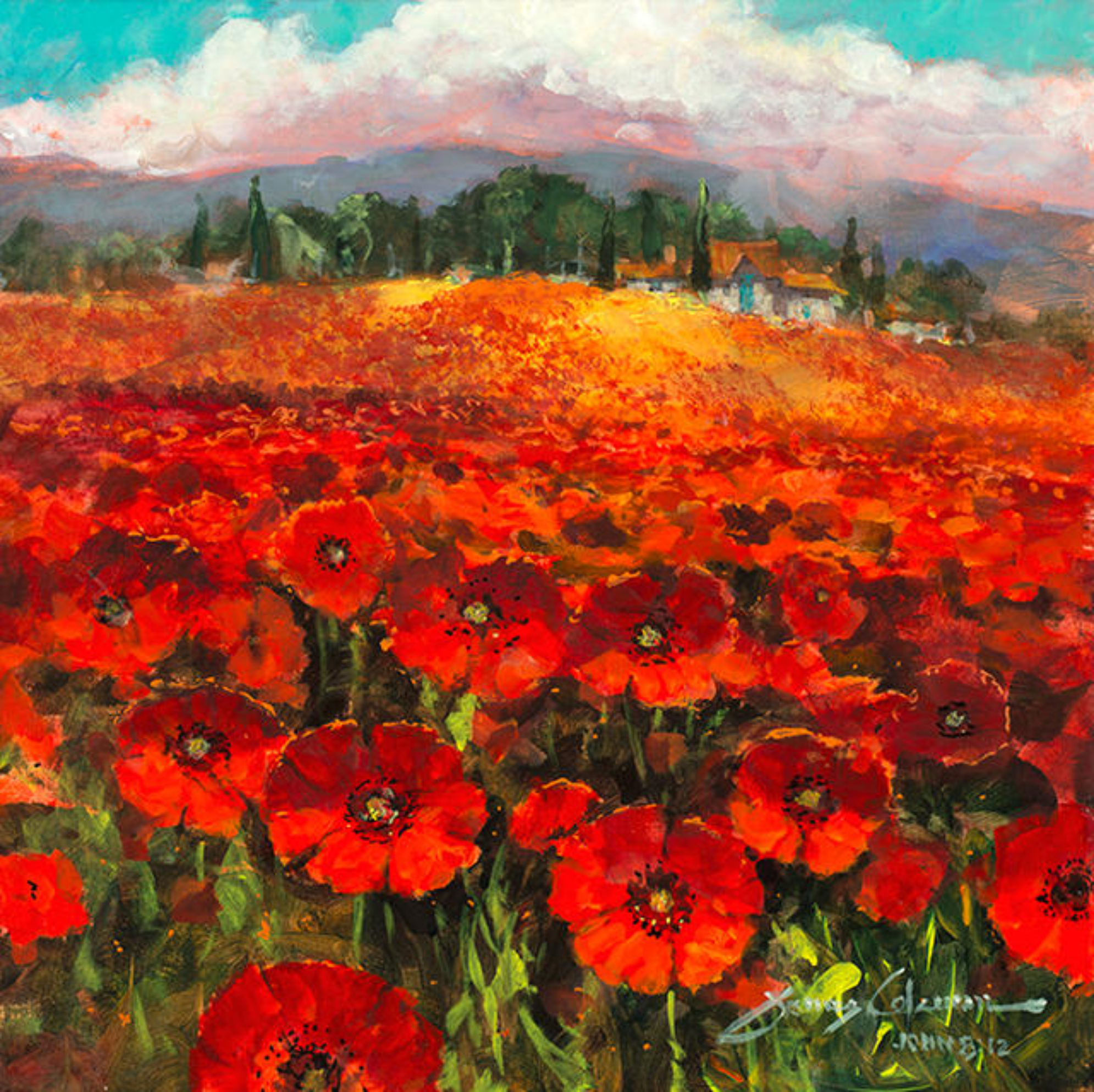 Daydreaming In A Field Of Poppies Chuck Jones Gallery Catalog
