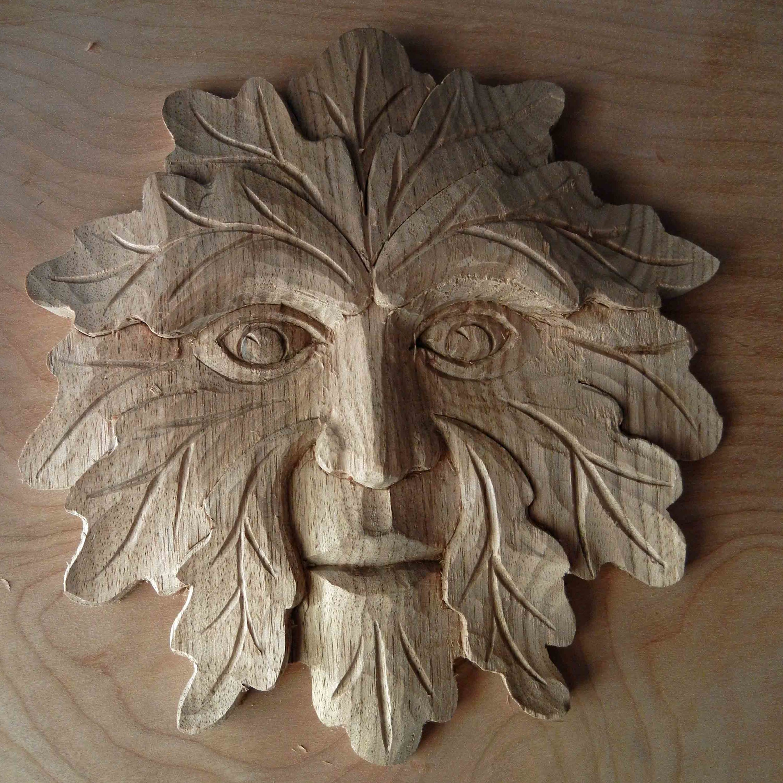 Carving the Green Man w/ Mary May — The Woodwright's School