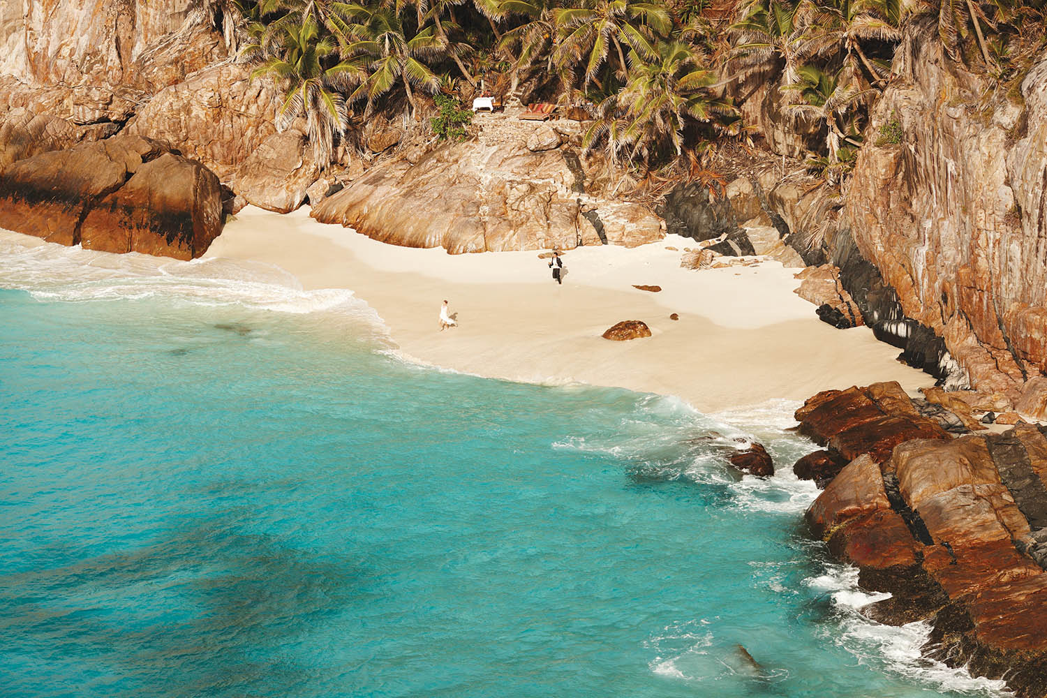 nse Macquereau, one of seven private beaches where   couples can get married on Fregate Island Private