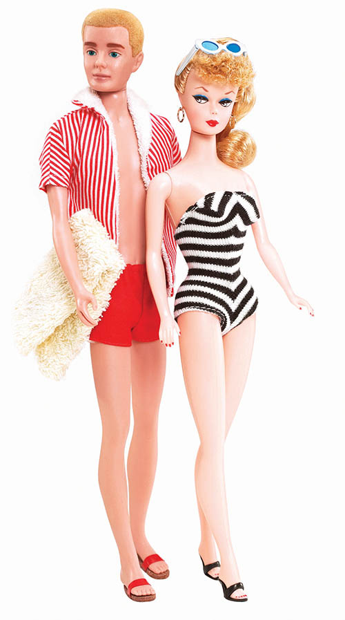 1.Barbie and Ken in the 1960s