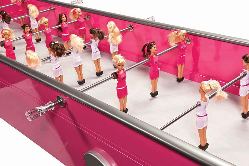 11. Chloé Ruchon's table football creation, Barbie Foot
