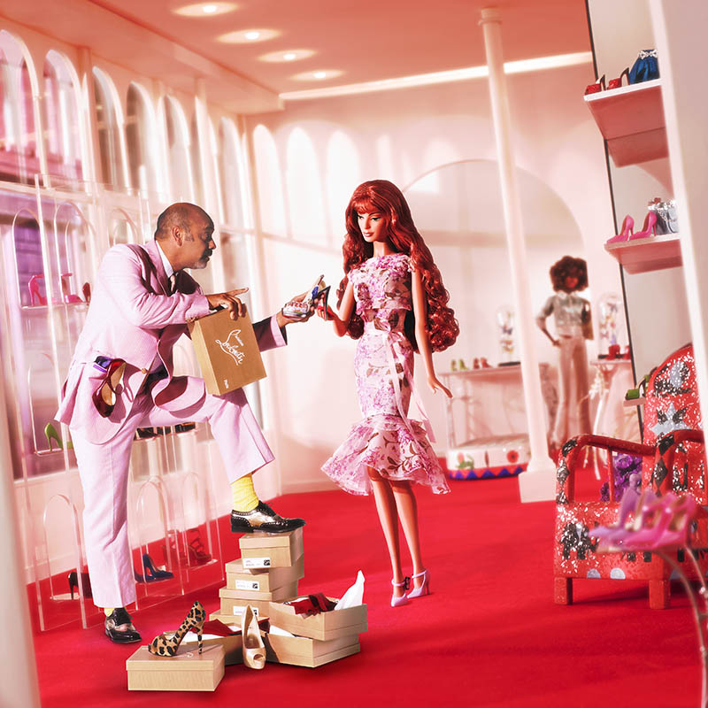 12. Barbie pays a visit to Christian Louboutin