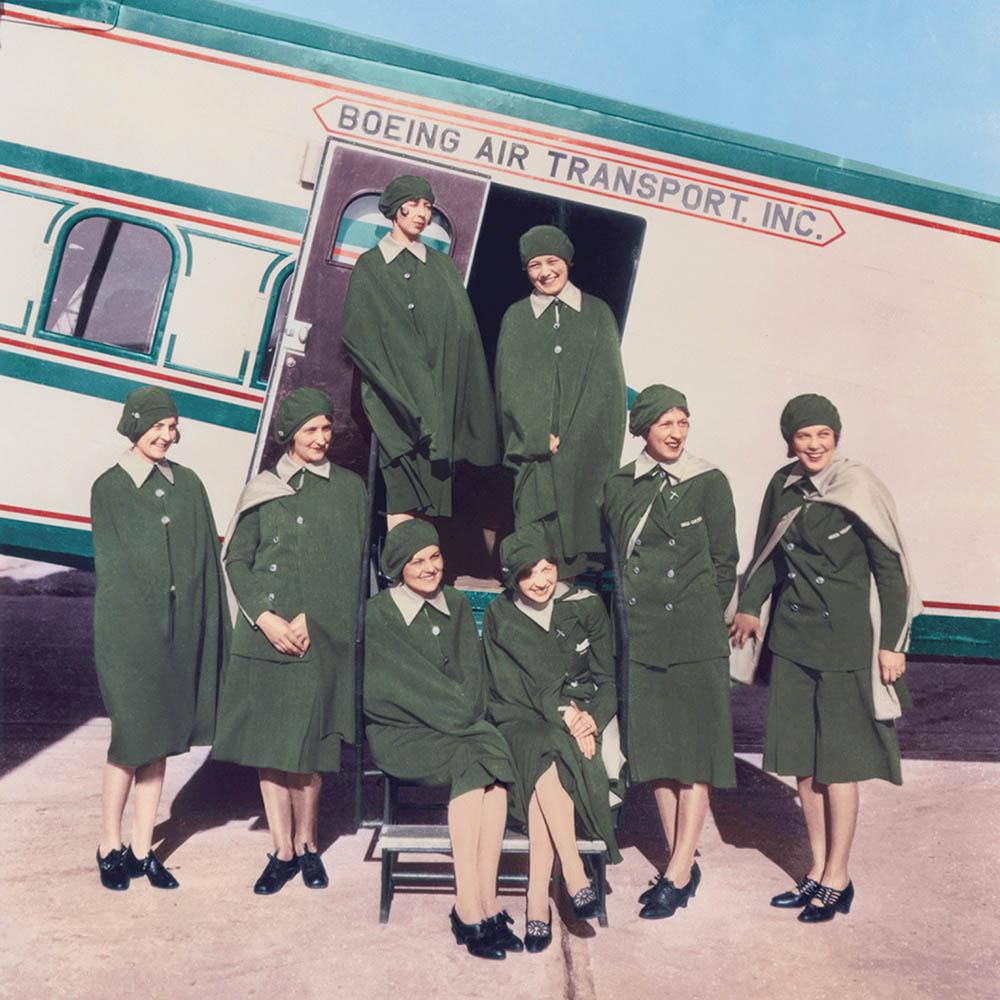 "The ""Original Eight"" flight attendants at Boeing Air Transport, 1930"