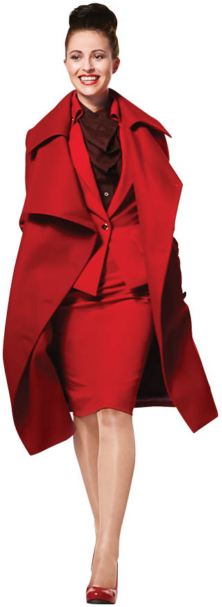 The red-hot uniforms currently in vogue at Virgin Atlantic