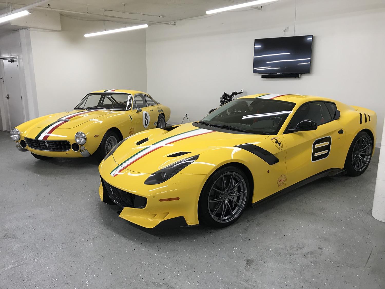 Right:   Ferrari 250 Lusso Competizione(1964); Left: One-off   Ferrari F12tdfDSKL