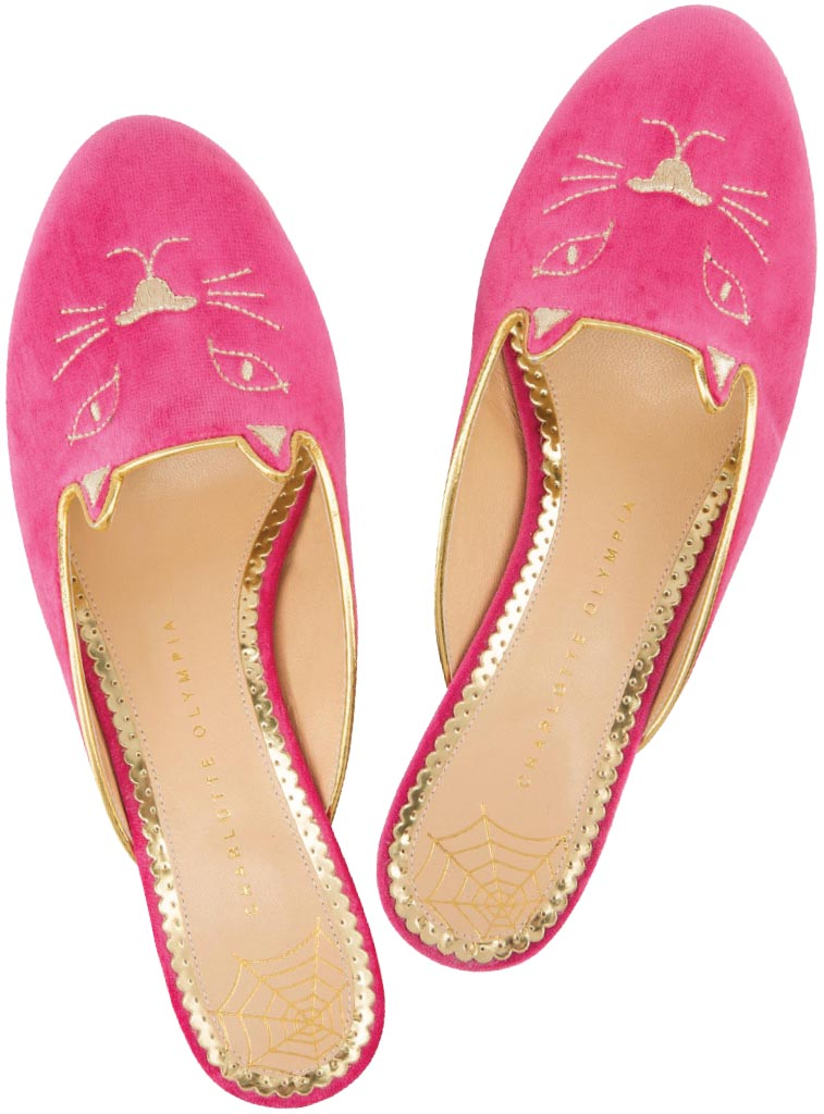Kitty slippers, Charlotte Olympia