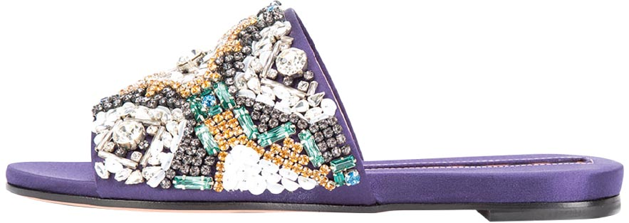 Crystal-embellished mules, Rochas