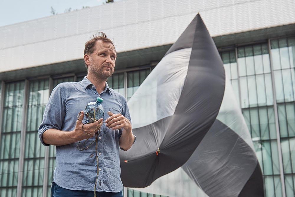 Tomás Saraceno introduces his  Aerocene  project at the Asia Culture Center in Gwangju, South Korea