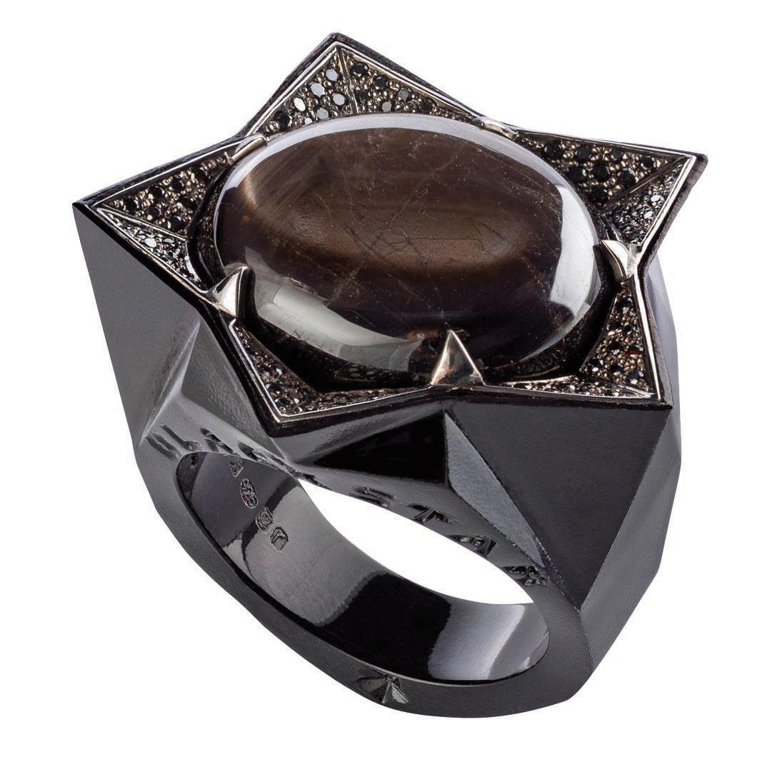 Black Sapphire Star ring, <br>Stephen Webster