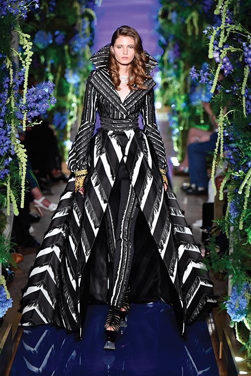 An intricate look from the autumn 2017 couture collection