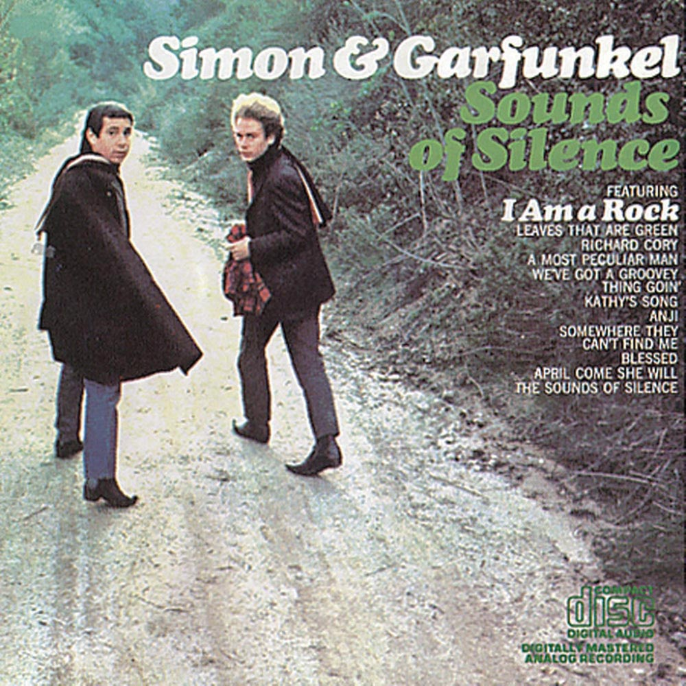"Simon & Garfunkel     Sounds of Silence    Inspired by a nursery rhyme he learned from a girl during a fleeting relationship in England, Paul Simon's wistful ""April Come She Will"" from the duo's second album uses the seasons as a metaphor for a partner's changing moods. At not even two minutes long, it's a miniature masterpiece."