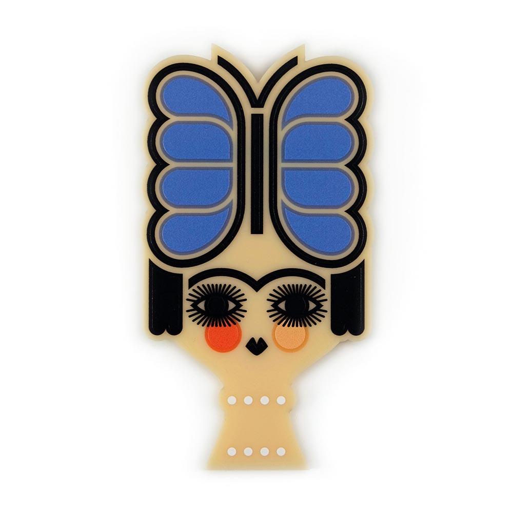 Butterfly headdress brooch, Iris De La Torre