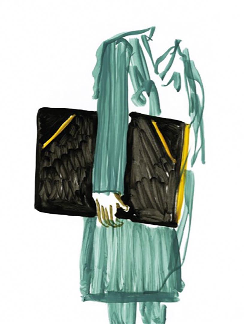 Sketch for the shoulder bag designed by Ronan & Erwan Bouroullec.jpg
