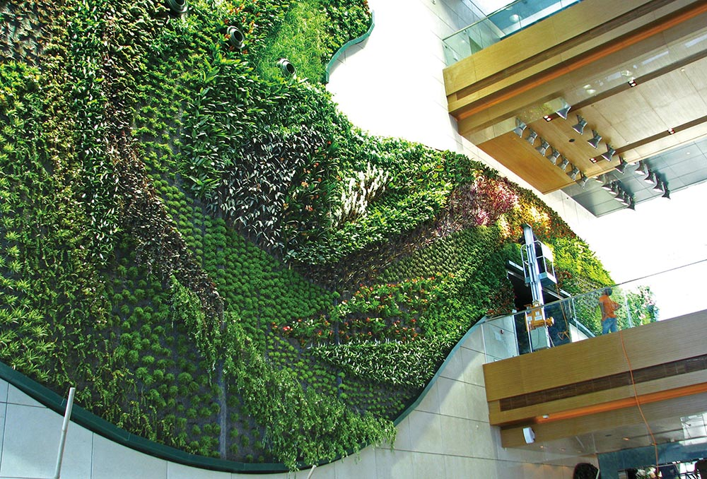 An installation at Hotel Icon by Patrick Blanc, who will teach a masterclass on vertical garden design on June 12