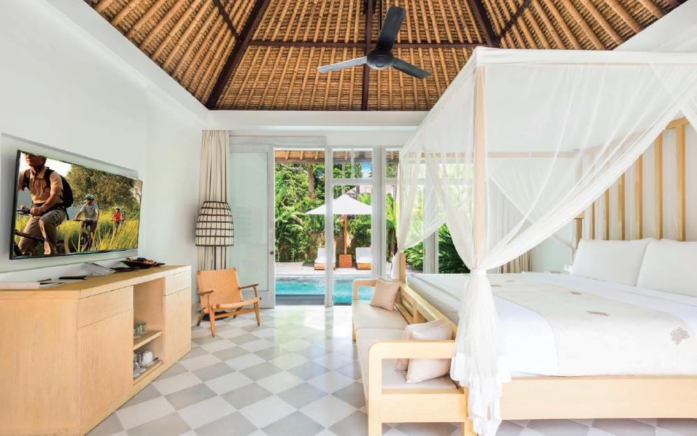 The interior of the Garden Pool Villa