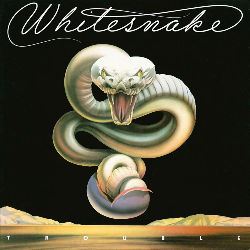 The dramatic US cover of Whitesnake's  Trouble  (1978)