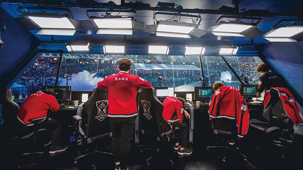 Esports team at the League of Legends Worlds 2017