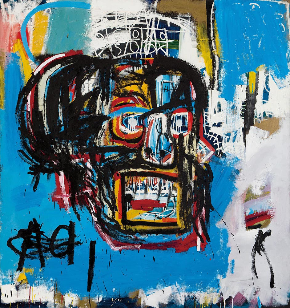 The iconic artist Jean-Michel Basquiat's  Untitled  (1982)
