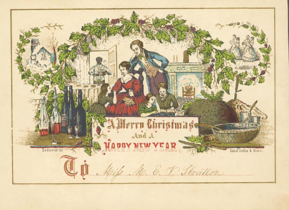 One of the earliest American Christmas cards (Philadelphia, circa 1849–53)