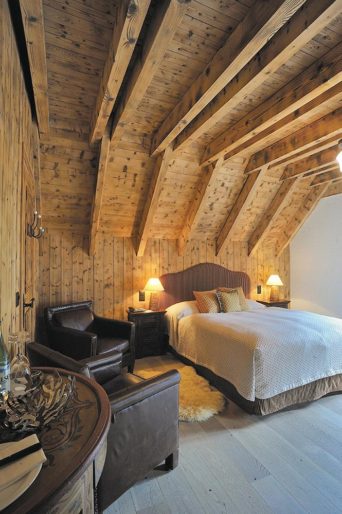 One of the cosy accommodations atop Titlis at the Hotel Alpenclub