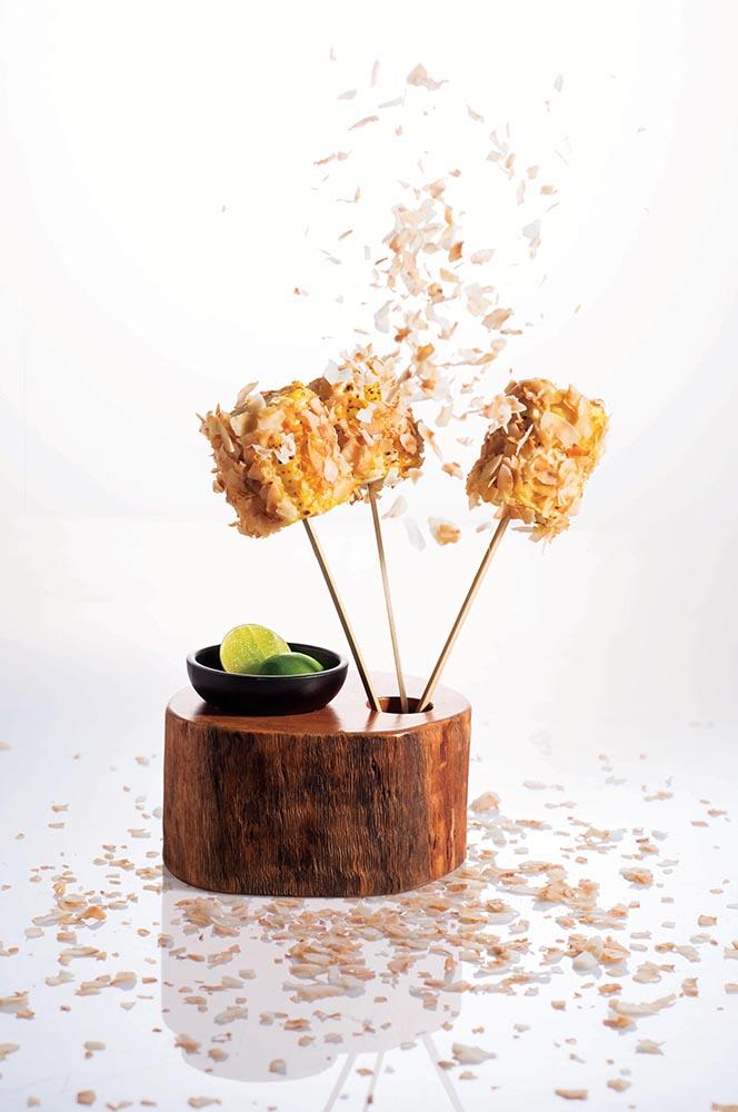 Toasted coconut corn cob