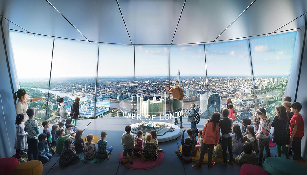 """The """"classroom in the sky"""" is set to offer 20,000 free places for London's state-school children each year"""
