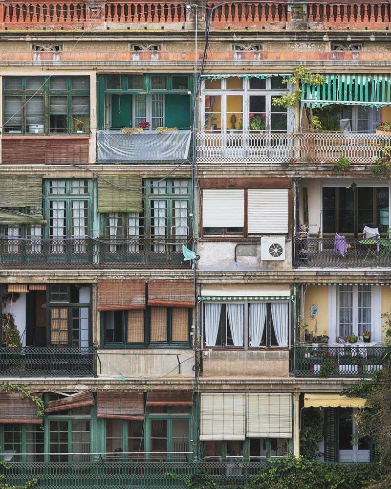 Classic façades in Eixample