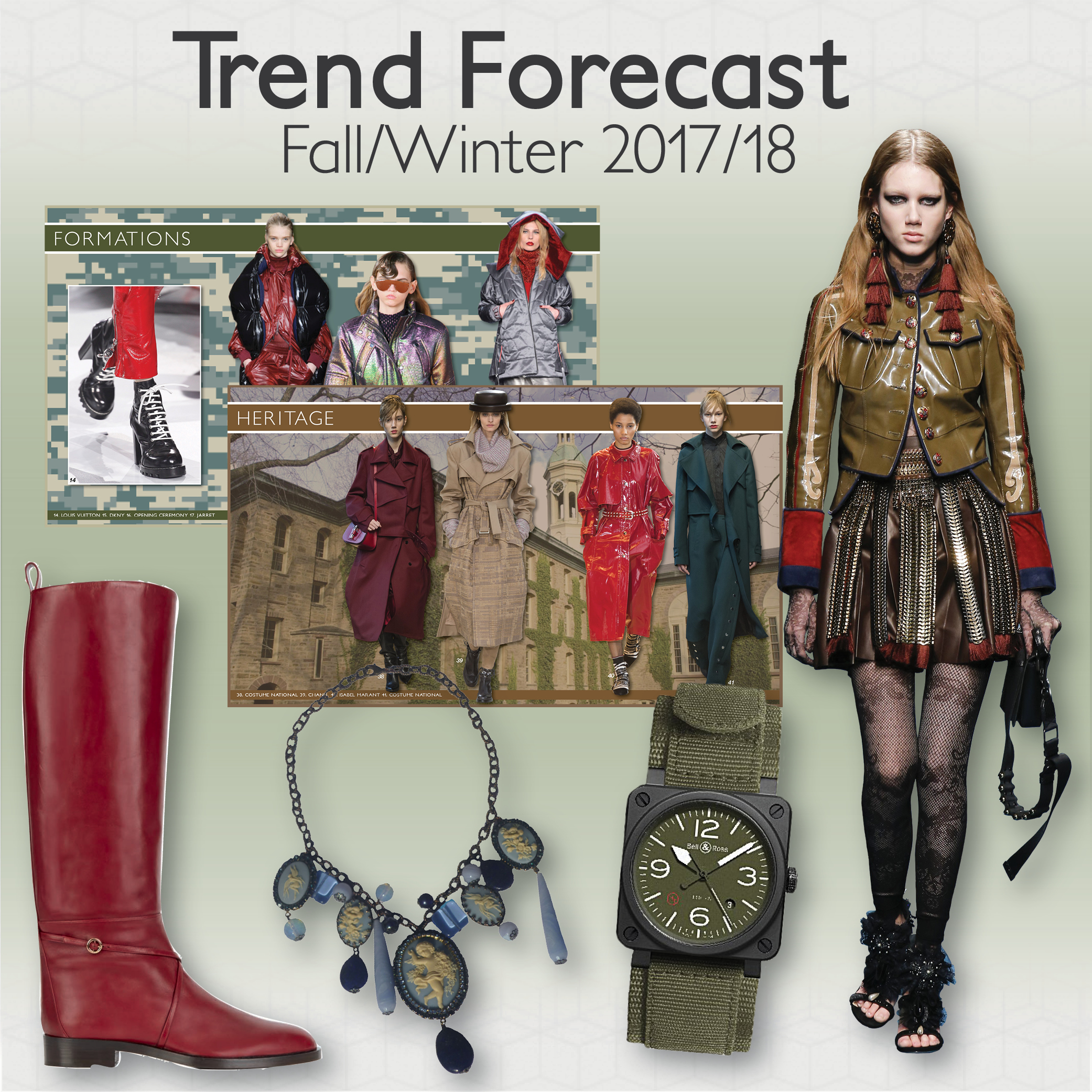 Fall Winter 2017 18 Trends Forecast Colour Trends