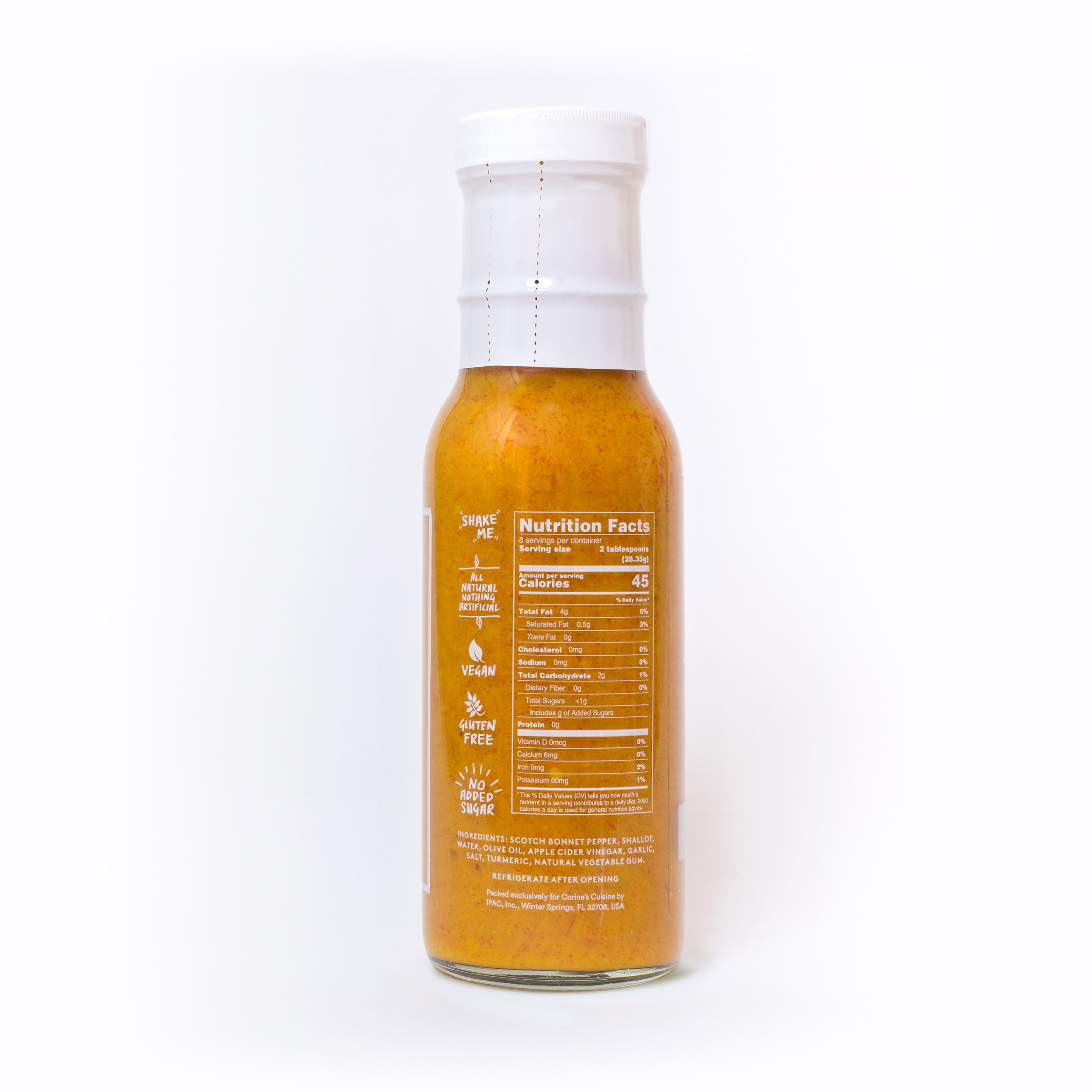 Sauce No  10 — 8 oz — Scotch Bonnet Pepper Sauce — For Dipping, Mixing, &  Seasoning — Corine's Cuisine | Sauces, Spices & Rubs