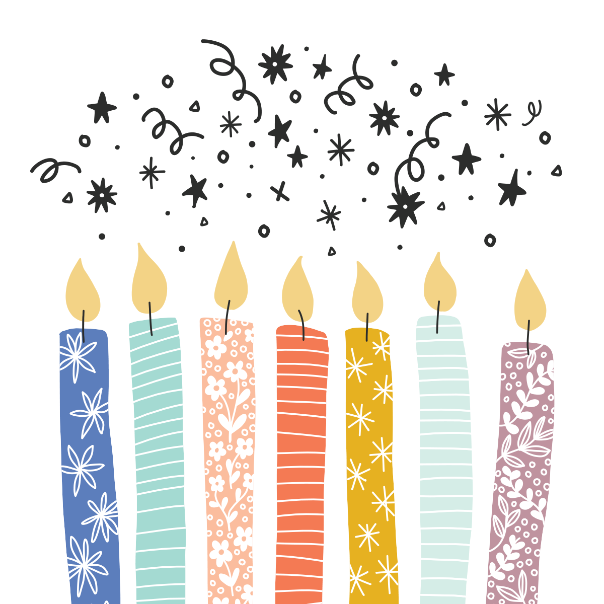 graphic regarding Printable Candles called Totally free Printable Birthday Candle Card Tempo Artistic Style