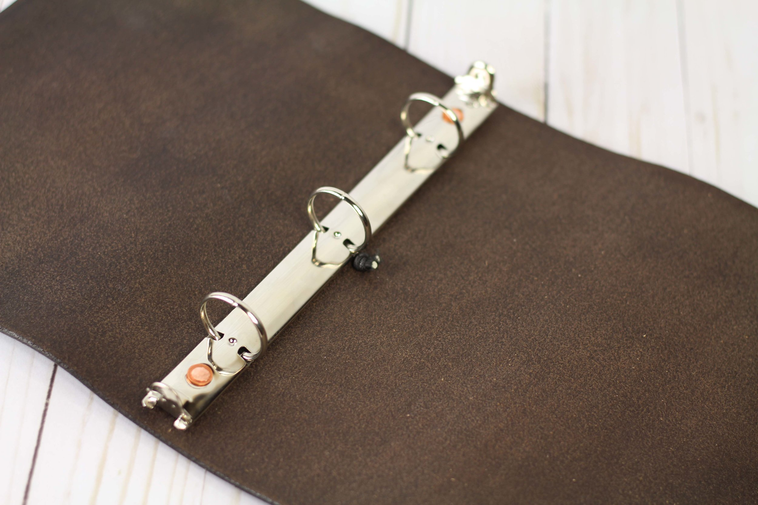 Leather Ring Planner - 3 Ring Leather HALF SHEET Size Binder 17 COLORS!! —  The Leather Quill Shoppe