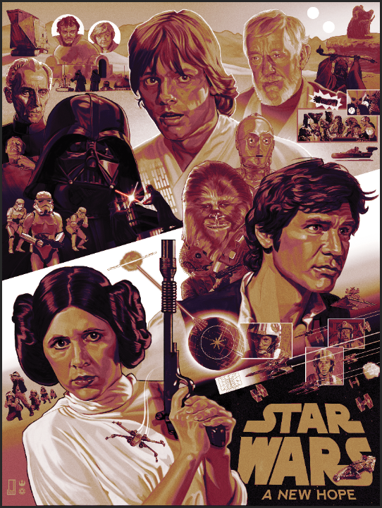 Star Wars Episode Iv A New Hope Jlj Illustrates