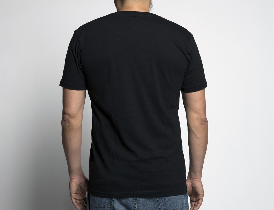 black t shirt plain back