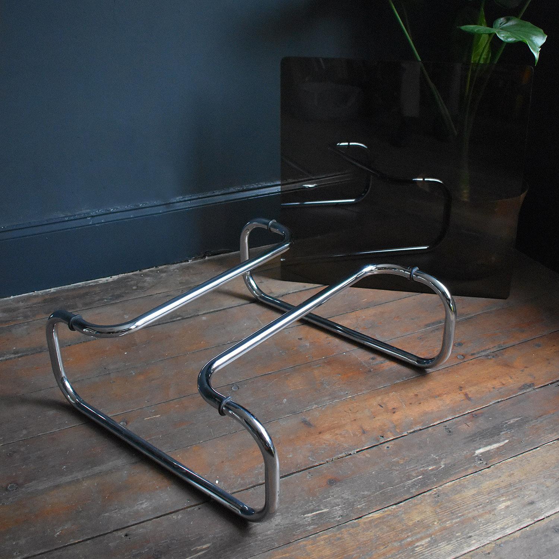 Vintage Tubular Chrome And Smoked Glass Coffee Table Rag Bone