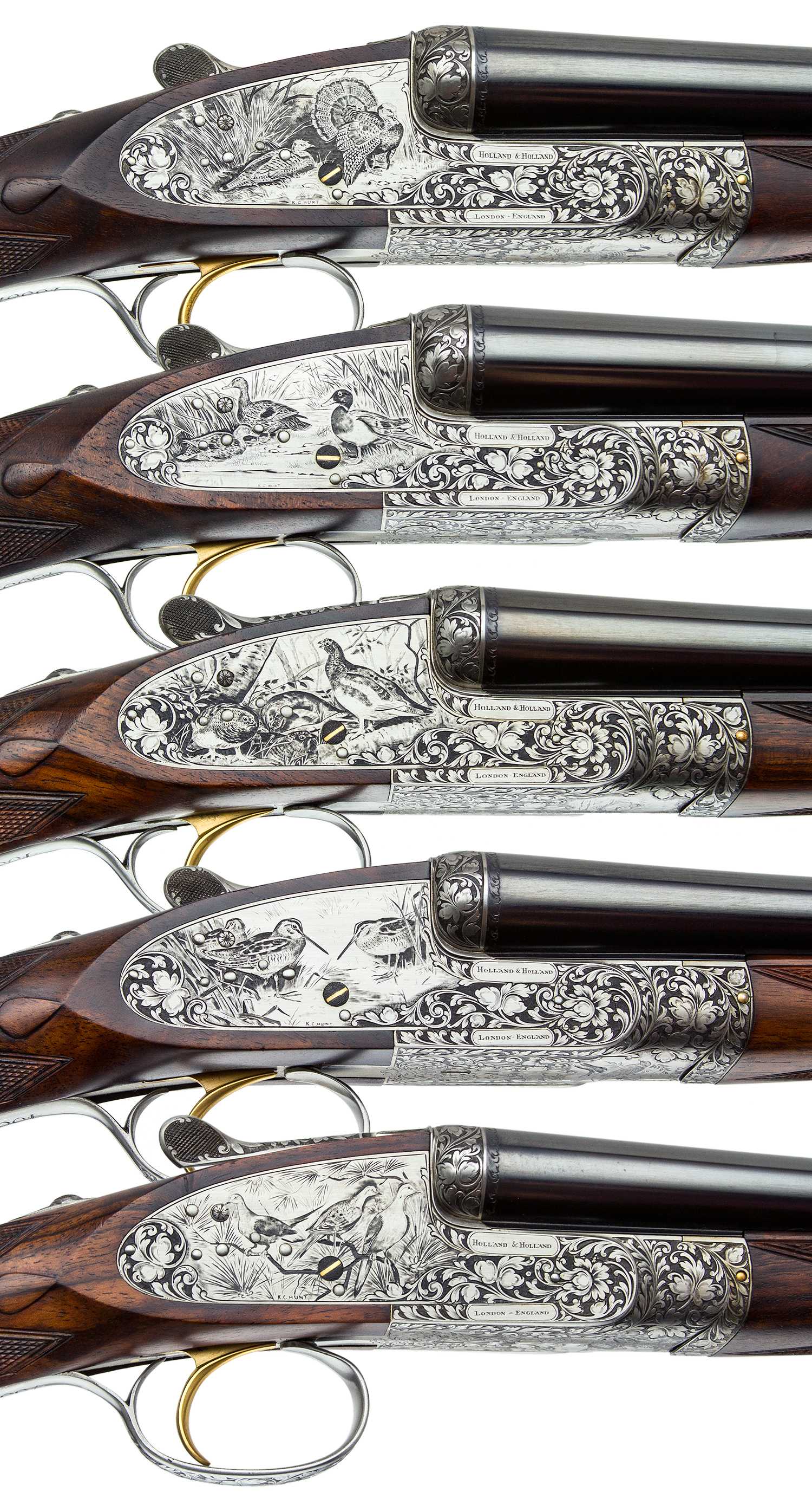 Holland And Holland >> Holland Holland 5 Gun Set 12 12 20 20 28 Gauge Steve Barnett Fine Guns High End Shotguns Rifles Pistols And Revolvers For Sale