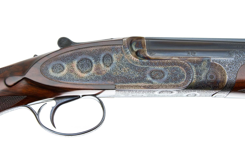 A  GALAZAN - BEST PINLESS SIDELOCK BOSS STYLE O/U 410 — Steve Barnett Fine  Guns   High-End Shotguns, Rifles, Pistols, and Revolvers For Sale