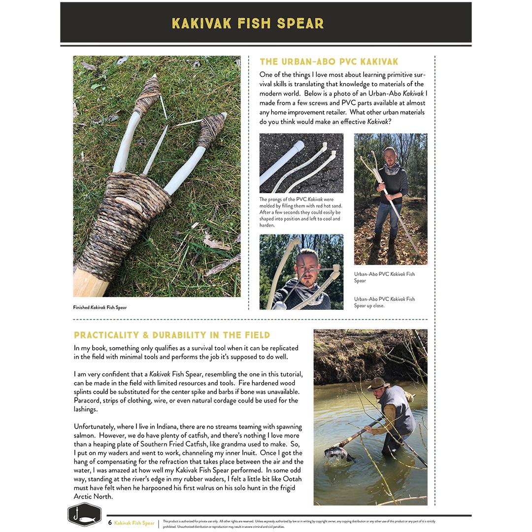 Kakivak Fish Spear: DIGITAL Survival Skill Sheet Set