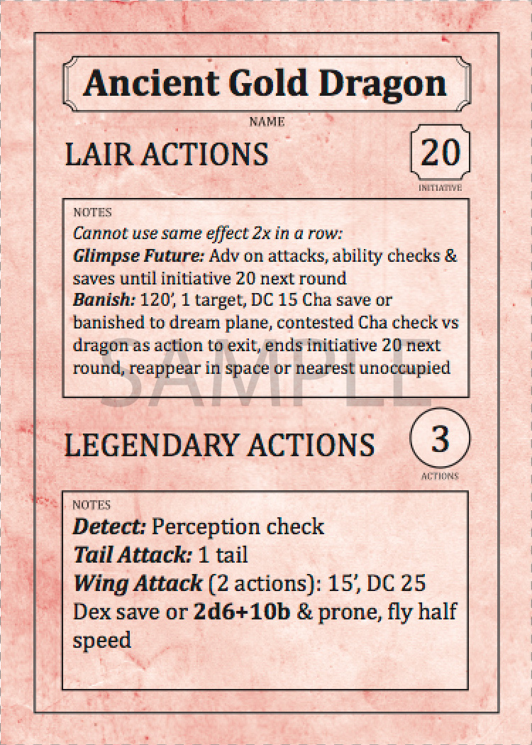 357 Pre-Filled Monster Cards — The Arcane Library
