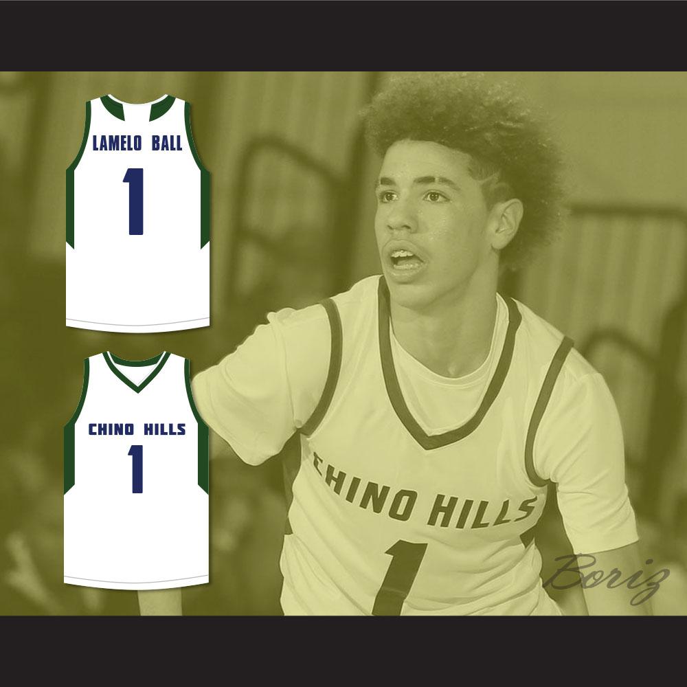 competitive price 38352 482fe LaMelo Ball 1 Chino Hills Huskies White Basketball Jersey 2 — BORIZ