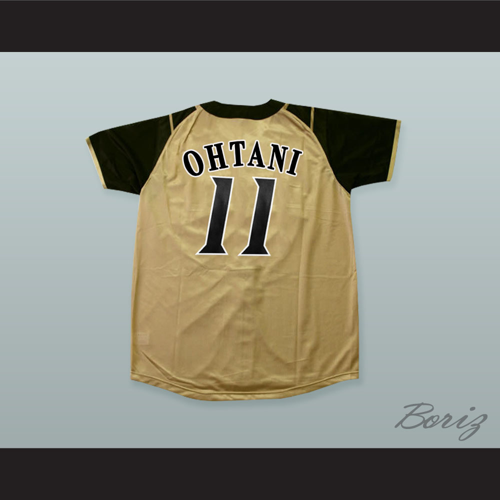 premium selection 07888 b6db0 Shohei Otani 11 Hokkaido Nippon-Ham Fighters Button Down Tan Baseball  Jersey with Patch — BORIZ