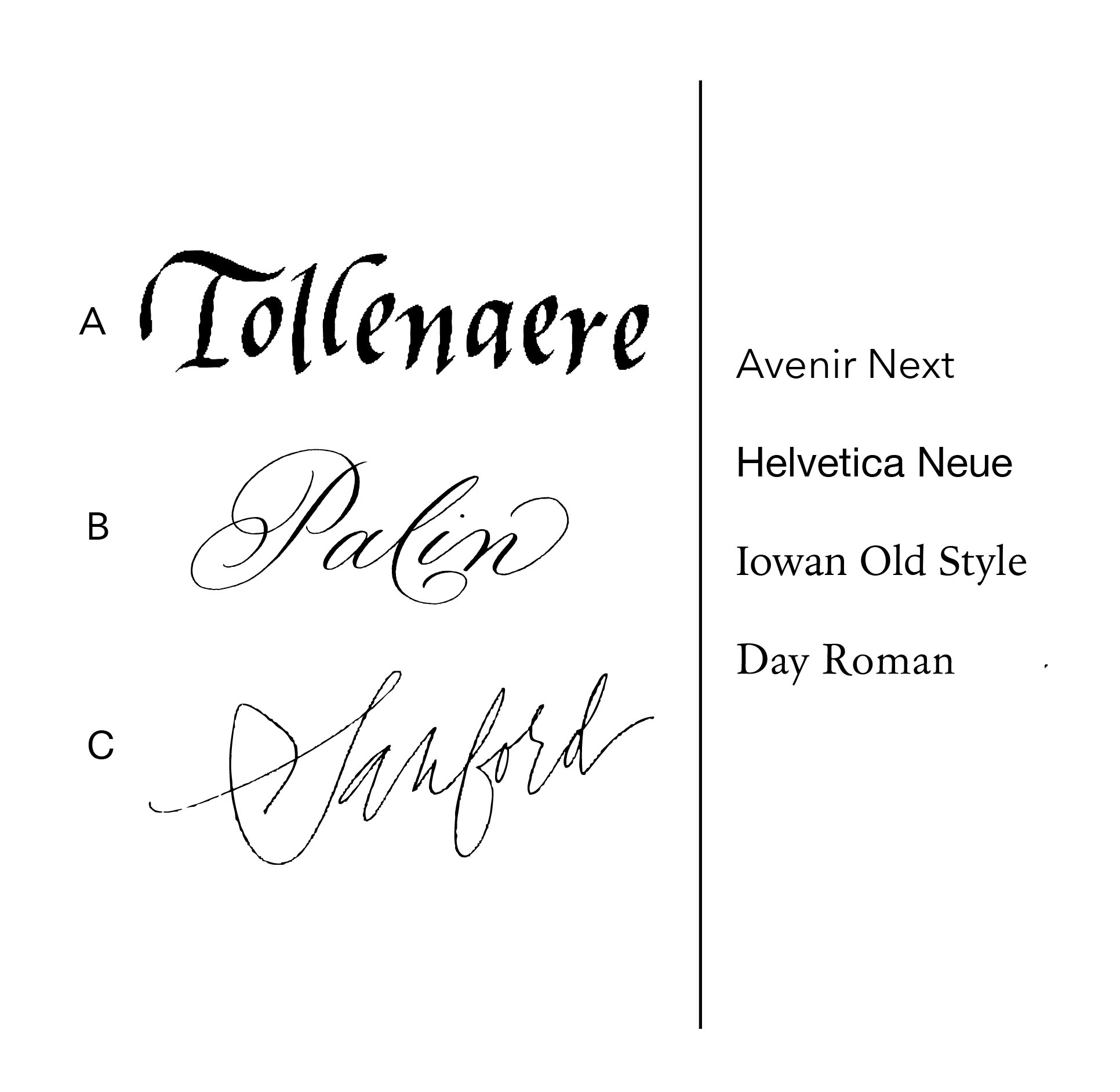 Calligraphy Last Name + Font Address Stamp — Cheryl Dyer Calligraphy +  Lettering